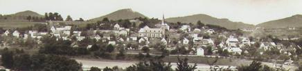 Alte Postkarte mit Blick auf Vettelschoß